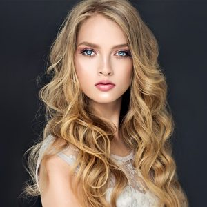 Hair Colouring Blonde Curls